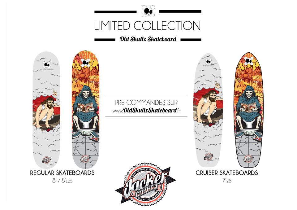 Old Skullz Skateboards X Jaxker Mag LIMITED COLLECTION