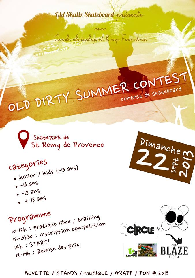 Affiche Old Dirty Summer Contest