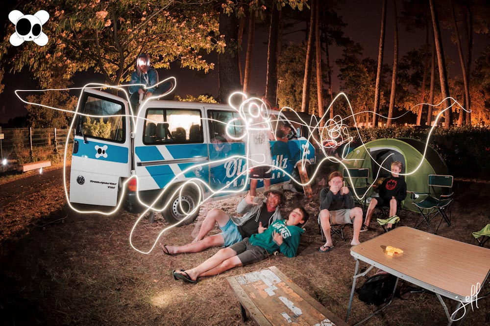camping lightpainting